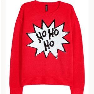 H&M Christmas sweater HO HO HO